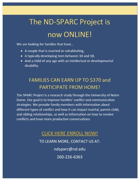 A New Family Study Opportunity